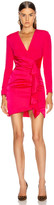 HANEY Lilly Draped Ruffle Dress in Hot Pink | FWRD