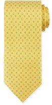 Salvatore Ferragamo Gancini-Print Silk Tie, Yellow