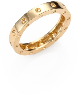 Roberto Coin Pois Moi 18K Yellow Gold Single-Row Band Ring