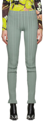 Acne Studios Green Ribbed Trousers