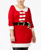 It's Our Time Trendy Plus Size Santa Tunic Sweater