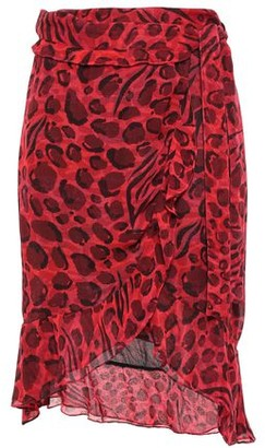 IRO Lingo Ruffle-trimmed Leopard-print Chiffon Wrap Skirt