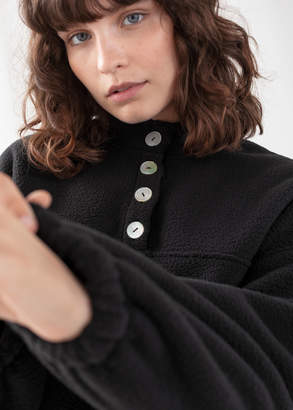 And other stories Fleece Mock Neck Pullover