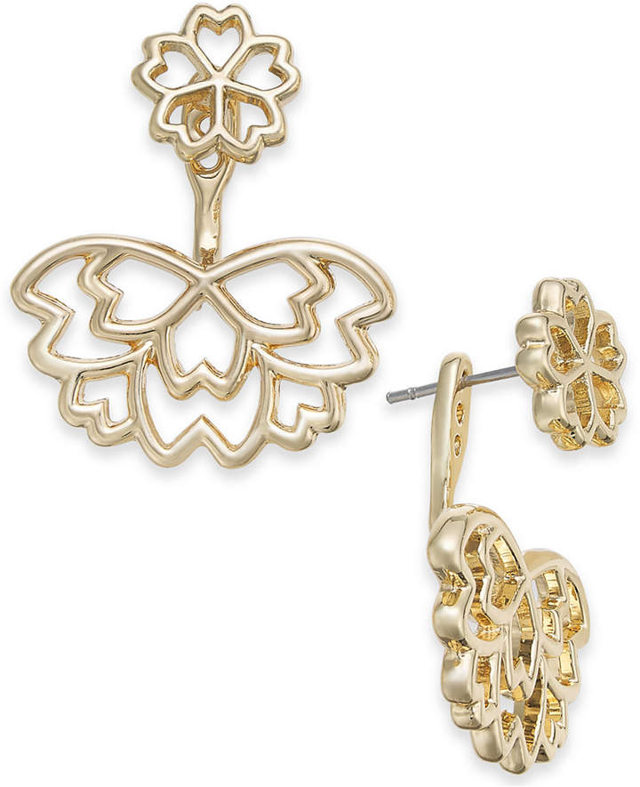 INC International Concepts I.N.C. Gold-Tone Flower Jacket Earrings, Created for Macy's