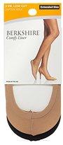 Berkshire Women's Plus Size Cotton Sole Comfy Liner Socks-2 Pack