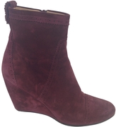 Balenciaga Burgundy Leather Ankle boots
