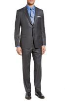 Men's Samuelsohn Beckett Classic Fit Sharkskin Wool Suit