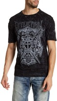 Affliction Lion Seal Panel Tee