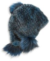 Jocelyn Dyed Mink Fur Cap