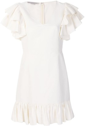 Stella McCartney Ruffle Sleeve V-Neck Dress