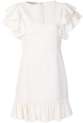 Stella McCartney ruffle sleeve v-neck dress