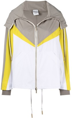 Lorena Antoniazzi Colour-Block Hooded Jacket