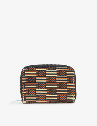 Moreau Paris Logo-print ultra-mini leather wallet
