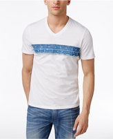 INC International Concepts Men's Denim-Trim T-Shirt, Created for Macy's