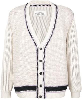 Maison Margiela contrasting trims V-neck cardigan