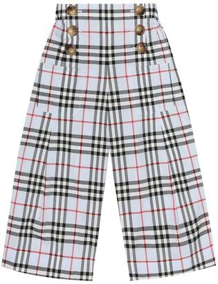 BURBERRY KIDS Check cotton pants