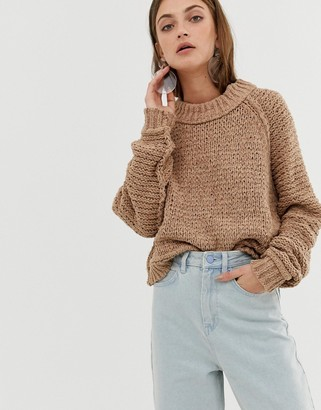 Asos tape yarn jumper-Pink