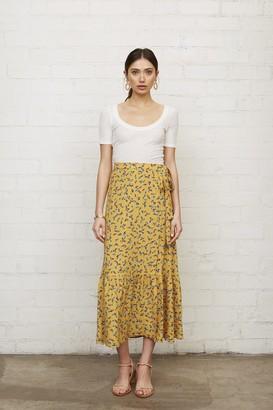 Warehouse Crepe Wrap Skirt - Floret