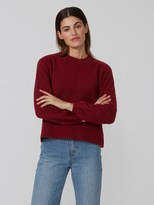 Frank and Oak Dolman-Sleeve Sweater in Red