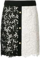 Fausto Puglisi macramé embroidered skirt