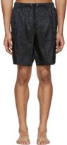 Versace Underwear Black Jacquard Swim Shorts