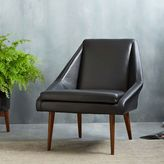 west elm Parker Leather Slipper Chair