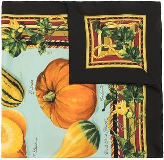 Dolce & Gabbana Pumpkin Print Silk Scarf
