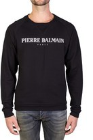Pierre Balmain Men's Classic Logo Print Crewneck Sweatshirt Black.