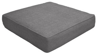 """Eddie Bauer Double Piped Indoor/Outdoor Sunbrella Ottoman Cushion Fabric: Slate, Size: 5"""" H x 24"""" W x 24"""" D"""