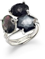 Ippolita Sterling Silver Rock Candy® 3-Stone Cluster Ring in Black Tie