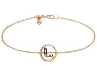 Annoushka Yellow Gold and Diamond Initial L Bracelet