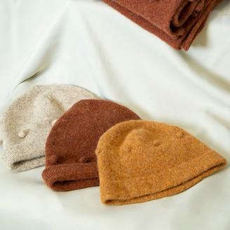 Wool Bobble Hat - Mustard