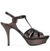 Saint Laurent platform glitter sandals
