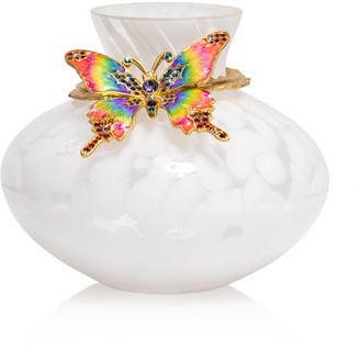 Jay Strongwater Rainbow Butterfly Vase