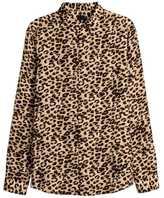 H&M Leopard-print Lyocell Shirt