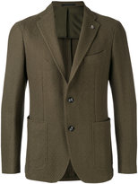 Tagliatore notched lapel blazer - men - Cotton/Cupro - 46