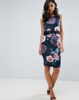 Lipsy 2-In-1 Floral Print Pencil Dress