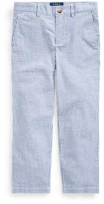 Ralph Lauren Stretch Seersucker Skinny Trouser