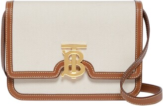 Burberry Small TB Monogram Canvas Shoulder Bag
