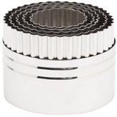 Ateco Stainless Steel Double-Sided Round 5-Piece Cutter Set, Plain / Fluted by
