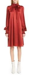 ADAM by Adam Lippes Silk Charmeuse Long Sleeve Dress