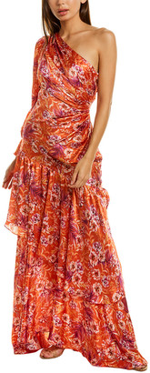 AMUR Israella Silk Maxi Dress