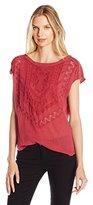 Lucky Brand Women's Textured Knit Top