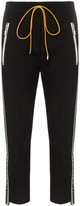 Rhude Traxedo stretch stripe track pants