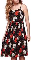Yumi Flower Print Strap Dress, Dark Blue