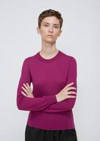 Comme des Garcons Purple Crewneck Cashmere Sweater