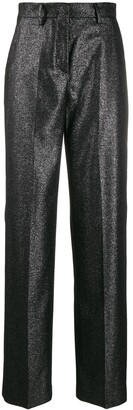 Pt01 Glitter Wide Leg Tailored Trousers