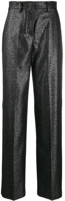 Pt01 glitter wide leg tailored trousers