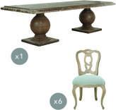 OKA Callanish Table and Hallstatt Chair Dining Set