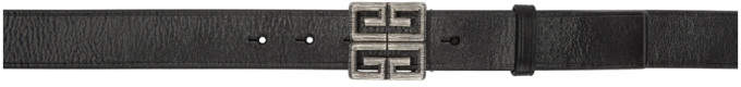 Givenchy Black 4G Engraved Belt